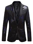 ราคาถูก เสื้อเชิ้ตผู้ชาย-สำหรับผู้ชาย เสื้อคลุมสุภาพ, ลายสก็อต คอวี เส้นใยสังเคราะห์ สีดำ / สีน้ำเงินกรมท่า / ไวน์ XXXXL / XXXXXL / XXXXXXL