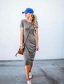 cheap Women's Dresses-Women's Elegant Shift Dress - Solid Colored Gray M L XL