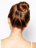זול אביזרים-דמוי פנינה / סגסוגת מצנפת עם קריסטל חלק 1 אירוע מיוחד / לבוש יומיומי כיסוי ראש