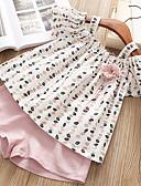 levne Dětské bundičky a kabátky-Děti Dívčí Základní Ovoce Bez rukávů Standardní Standardní Bavlna Sady oblečení Světlá růžová