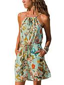abordables Vestidos de Mujer-Mujer Línea A Vestido - Estampado, A Rayas Floral Sobre la rodilla