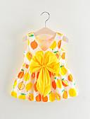 זול שמלות לתינוקות-שמלה כותנה מעל הברך ללא שרוולים פירות בסיסי בנות תִינוֹק / פעוטות