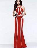 cheap Maxi Dresses-Women's Maxi Slim T Shirt Swing Shirt Dress Blue Red L XL XXL