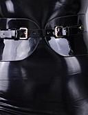 halpa Zentai-Zentai asut Käsineet Kissapuku Moottoripyörä tyttö Aikuisten Lateksi Cosplay-asut Cosplay Halloween Naisten Musta Yhtenäinen Halloween Masquerade / Ihon puku / Ihon puku