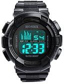 abordables Relojes Digitales-Hombre Reloj Deportivo Digital Silicona Negro Luminoso Digital Destello Moda - Negro Gris Un año Vida de la Batería