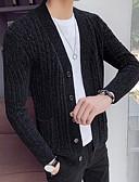 abordables Jerséis y Cardigans de Hombre-Hombre Un Color Cardigan Otoño Negro / Gris L / XL / XXL