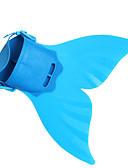 זול בגדי ים לבנות-זנב של בתולת ים אקווה הנסיכה תחפושות קוספליי בנים בנות תחפושות משחק של דמויות מסרטים בת ים וסליפ שמלת חצוצרה בתולת ים ירוק / כחול / ורוד בתולת ים האלווין (ליל כל הקדושים) נשף מסכות TPR עמ'