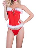 povoljno Odijelo-Žene Mrežica / Ukriženo Odijelo Noćno rublje Color block Red One-Size