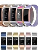 זול להקות Smartwatch-צפו בנד ל Fitbit Charge 3 פיטביט לולאה בסגנון מילאנו מתכת אל חלד רצועת יד לספורט