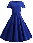 povoljno Vintage kraljica-Žene Osnovni Korice Swing kroj Haljina Jednobojni Do koljena