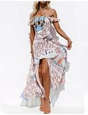 Недорогие Накидки-Жен. Богемный Элегантный стиль С летящей юбкой Платье - Контрастных цветов, С принтом Ассиметричное