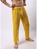 abordables Camisetas y Tops de Hombre-Hombre Normal Poliéster De género neutro Calzoncillos largos Un Color Media cintura