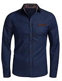 cheap Men's Shirts-Men's EU / US Size Shirt - Solid Colored Navy Blue XL