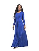 Χαμηλού Κόστους Μακριά Φορέματα-Γυναικεία Βασικό Κομψό Θήκη Φόρεμα - Μονόχρωμο, Εξώπλατο Μακρύ