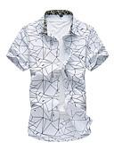 hesapli Erkek Gömlekleri-Erkek Gömlek Çizgili Büyük Bedenler Beyaz