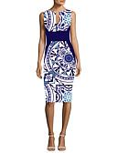 tanie Sukienki-Damskie Elegancja Bodycon Sukienka - Geometric Shape Do kolan