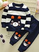 levne Sady Chlapecké oblečení na miminka-Dítě Chlapecké Základní Žakár Dlouhý rukáv Standardní Standardní Polyester Sady oblečení Vodní modrá