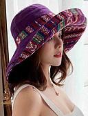 halpa Naisten hatut-Naisten Aktiivinen söpö tyyli Aurinkohattu-Kukkapainatus Puuvilla Polyesteri Syksy Talvi Laivaston sininen Purppura Keltainen