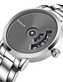 abordables Relojes Digitales-Hombre Reloj de Vestir Cuarzo Acero Inoxidable Plata Resistente a los Golpes Cool Analógico Digital Casual Moda - Blanco Negro Un año Vida de la Batería