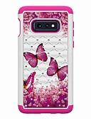 cheap Cellphone Case-Case For Samsung Galaxy Galaxy S10 Plus / Galaxy S10 E Rhinestone / Pattern Back Cover Butterfly Hard TPU for Galaxy S10 / Galaxy S10 Plus / Galaxy S10 E