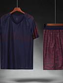 ราคาถูก แจ็กเก็ต &เสื้อโค้ทผู้ชาย-สำหรับผู้ชาย ฟุตบอล เสื้อฟุตบอลและกางเกงขาสั้น ชุดออกกำลังกาย ระบายอากาศ Sweat-wicking Team Sports การฝึกอบรมที่ใช้งานอยู่ ลูกฟุตบอล สลับ เส้นใยสังเคราะห์ ผู้ใหญ่ หมึกสีน้ำเงิน