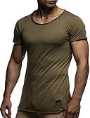 abordables Ropa interior para hombre exótica-Hombre Algodón Camiseta, Escote Redondo Un Color Azul Marino XL