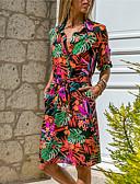 cheap Women's Dresses-Women's Basic Sheath Dress - Striped Geometric Black Orange Navy Blue L XL XXL