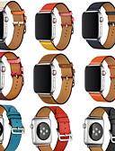 halpa Smartwatch-nauhat-Watch Band varten Apple Watch Series 4/3/2/1 Apple Nahkahihna Aito nahka Rannehihna