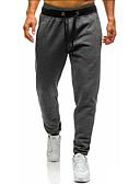 お買い得  メンズパンツ&ショーツ-男性用 ベーシック チノパン / スウェットパンツ パンツ - ソリッド ブラック
