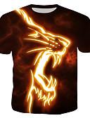 cheap Men's Tees & Tank Tops-Men's T-shirt - 3D / Animal / Cartoon Print Rainbow XL