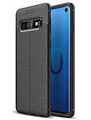 Недорогие Защитные плёнки для экрана iPhone-Кейс для Назначение SSamsung Galaxy Galaxy S10 / Galaxy S10 Plus / Galaxy S10 E Матовое Кейс на заднюю панель Однотонный Мягкий ТПУ