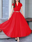 abordables Vestidos de Mujer-Mujer Básico Boho Corte Swing Vestido Un Color Maxi