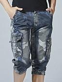 お買い得  メンズパンツ&ショーツ-男性用 ベーシック ショーツ パンツ - ソリッド ブルー