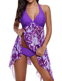 cheap One-piece swimsuits-Women's Orange Purple Light Blue Underwire One-piece Swimwear - Color Block XXXL XXXXL XXXXXL Orange