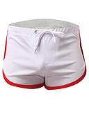 hesapli Egzotik Erkek İç Giyimi-Erkek Asya Beden Boxerlar - Temel 1 Parça Düşük Bel Siyah Açık Mavi Navy Mavi L XL XXL