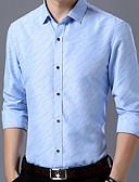 abordables Camisas de Hombre-Hombre Camisa A Lunares Azul Marino XXL