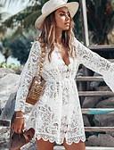 hesapli Mini Elbiseler-Kadın's Çan Elbise V Yaka Diz üstü
