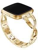 voordelige Smartwatch-banden-Horlogeband voor Fitbit Versa / Fitbit Versa Lite Fitbit Sieradenontwerp Metaal / Roestvrij staal Polsband