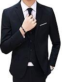 זול טוקסידו-בגדי ריקוד גברים שחור כחול בהיר אודם M L XL בלייזר דש קלאסי רזה