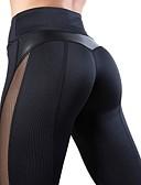 povoljno One-piece swimsuits-Žene Visoki struk Kolaž Hlače za jogu Srce Mrežica Trčanje Fitness Biciklizam Hulahopke Odjeća za rekreaciju Quick dry Butt Lift Mikroelastično Slim