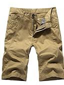 cheap Men's Jackets & Coats-Men's Basic Shorts Pants - Solid Colored Black Beige Khaki XXXXL XXXXXL XXXXXXL