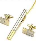 povoljno Luksuzni satovi-Mandzsettagombok Kravata Clips Formalan Moda Broš Jewelry Zlatan Za Dnevno Rad