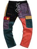 お買い得  メンズパンツ&ショーツ-男性用 ストリートファッション チノパン パンツ - 幾何学模様 レインボー