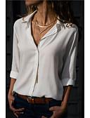 billige Skjorter til damer-Skjortekrage Bluse Dame - Ensfarget Grå