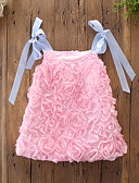 tanie Sukienki dla niemowląt-Dziecko Dla dziewczynek Aktywny / Podstawowy Kwiaty Wiązanie Bez rękawów Do kolan Bawełna Sukienka Biały / Brzdąc