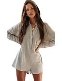 abordables Vestidos Estampados-Mujer Gris Mono, Un Color S M L