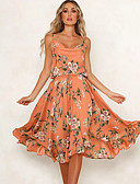 cheap Print Dresses-Women's Basic A Line Sheath Dress - Geometric Orange Beige Navy Blue M L XL