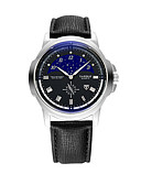 ราคาถูก เสื้อเชิ้ตผู้ชาย-สำหรับผู้ชาย นาฬิกาตกแต่งข้อมือ นาฬิกาอิเล็กทรอนิกส์ (Quartz) หนัง ดำ 30 m กันน้ำ นาฬิกาใส่ลำลอง ระบบอนาล็อก ไม่เป็นทางการ แฟชั่น - ขาว สีดำ หนึ่งปี อายุการใช้งานแบตเตอรี่ / สแตนเลส