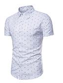 billige Herreskjorter-Herre - Prikker Skjorte Hvid XL