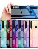 olcso Mobiltelefon tokok-Case Kompatibilitás Samsung Galaxy Galaxy A9 (2018) Ütésálló Fekete tok Színátmenet Kemény TPU / Hőkezelt üveg mert A6 (2018) / A6+ (2018) / Galaxy A7(2018)